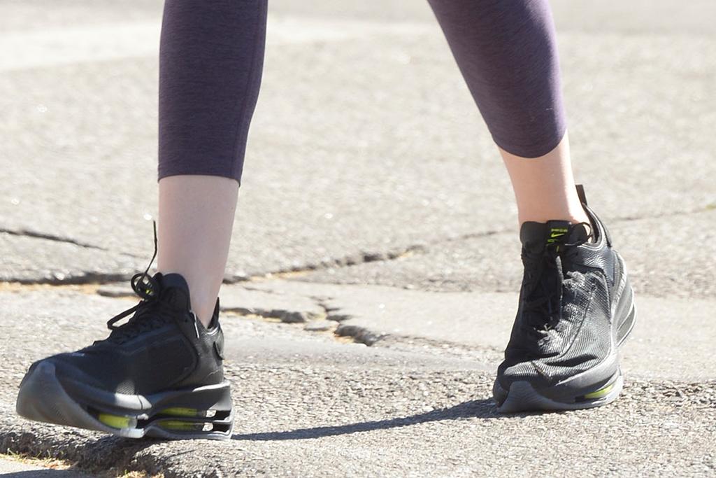 krysten ritter shoes, nike zoom double stacked sneakers, krysten ritter style