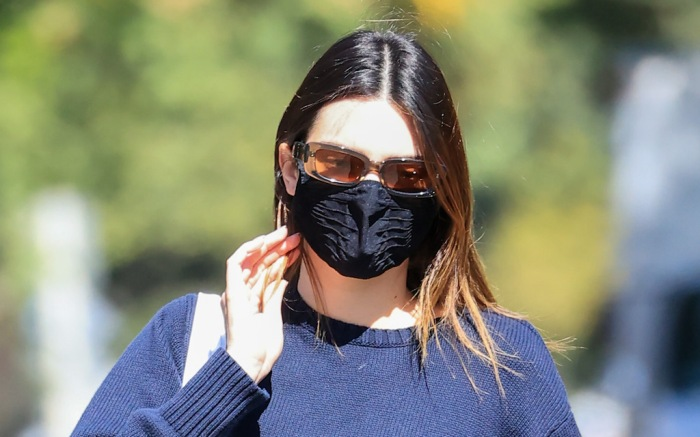 Kendall Jenner shows off her toned physique in a blue outfit as she heads to Pilates