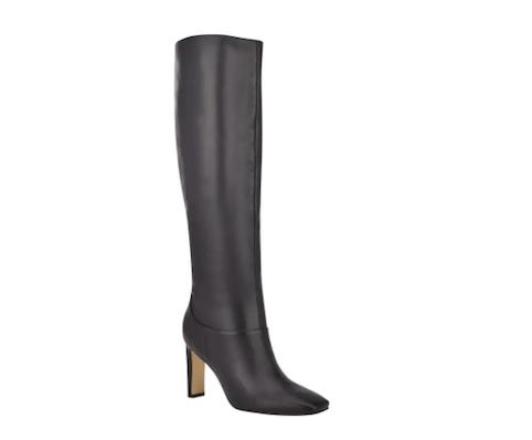 Nine West, black knee high boots