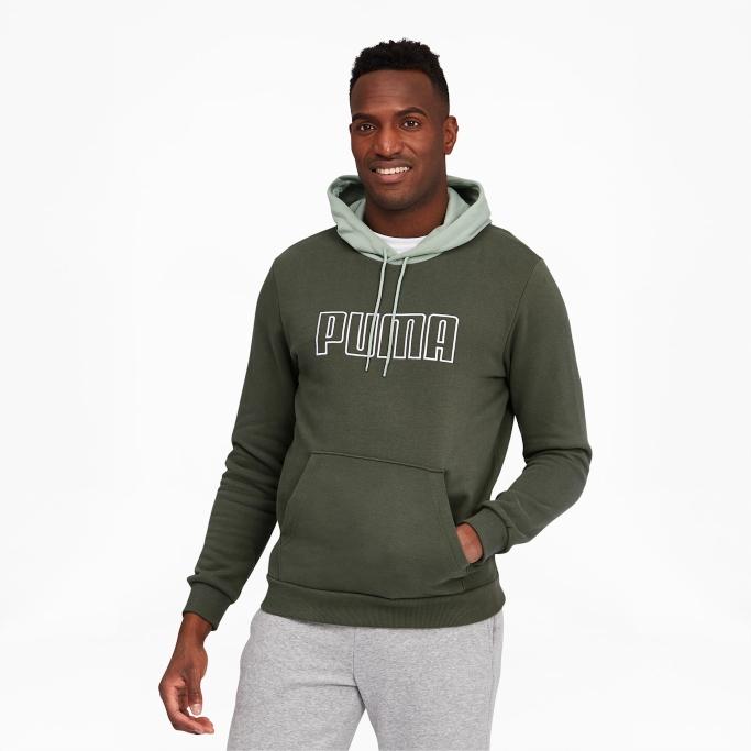 puma flash sale, Puma Block Men's Embroidered Hoodie