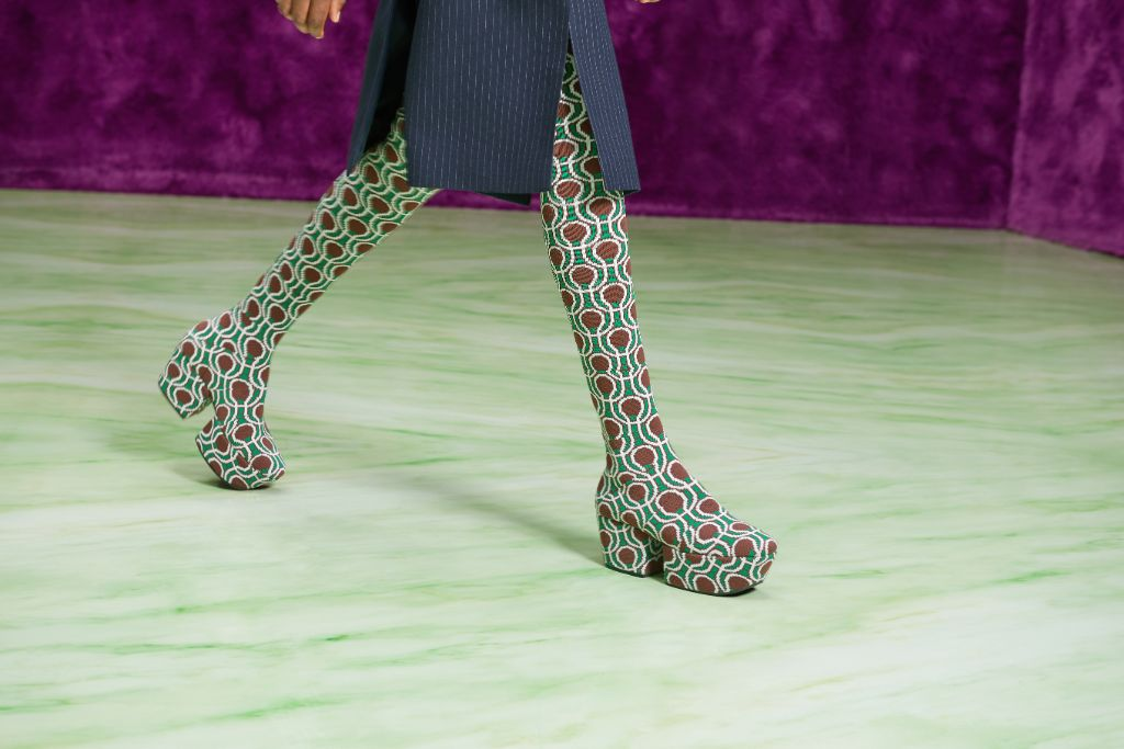 prada fall '21, prada, crazieest shoes at milan fashion week