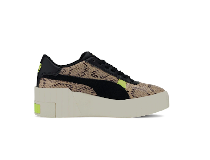 Puma Cali Wedge Sneakers, snakeskin