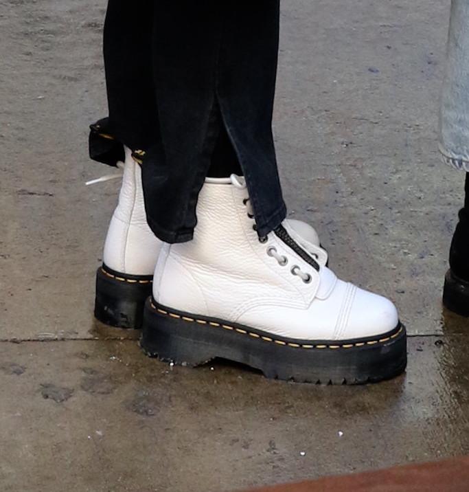 Selena Gomez, Dr. Martens, lug sole boots, combat boots