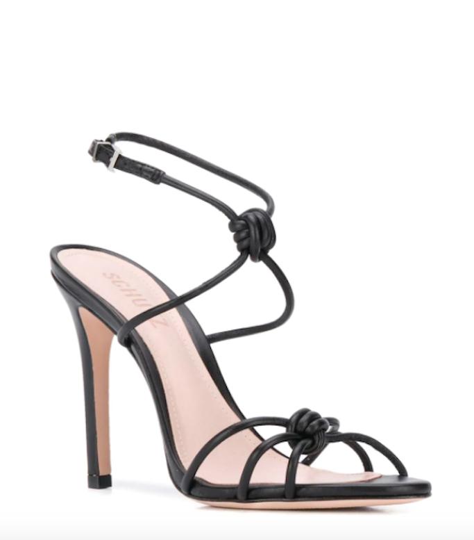 Schutz, black strappy sandal