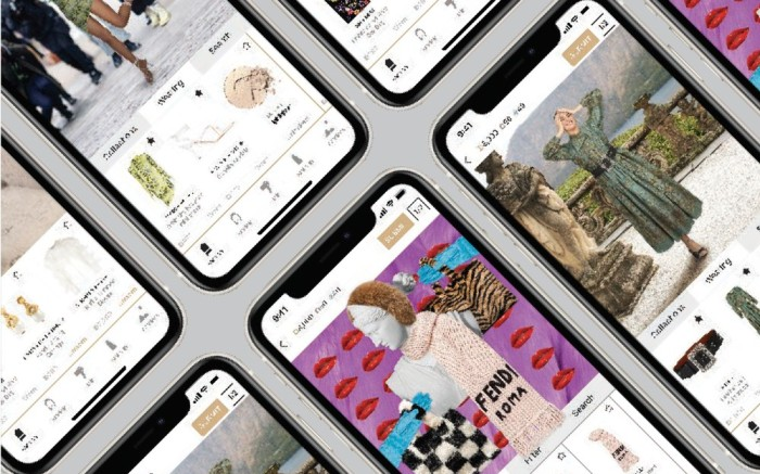 Series of smartphone gaming screens of the Drest styling fashion game