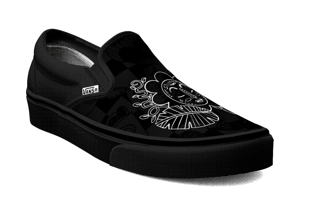 vans customs, tony whlgn slip-on, black history month collection