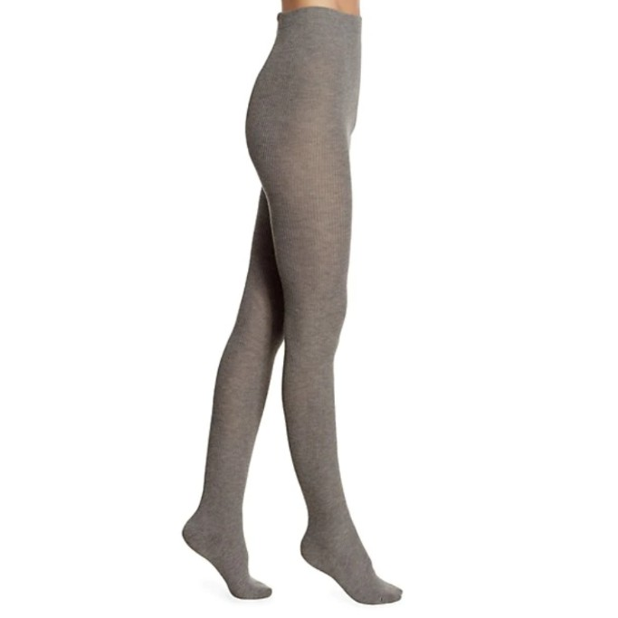 Natori Regent Wool-Blend Sweater Tights, warm tights