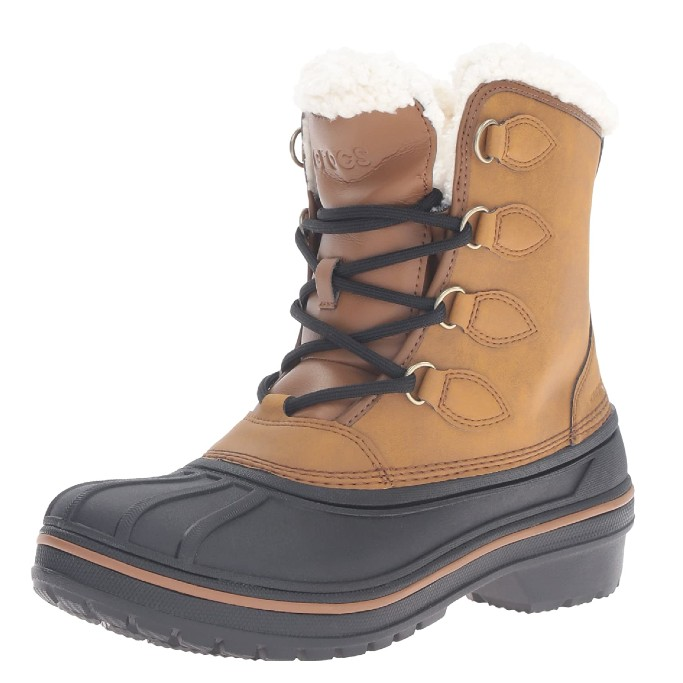 Crocs Women's AllCast II Snow Boot, crocs with shoelaces