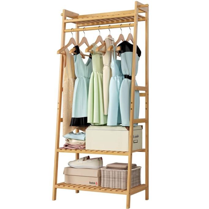 Homfa Bamboo Clothing Rack, best clothing racks