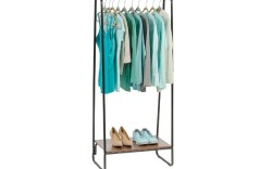 clothing rack with shoe storage
