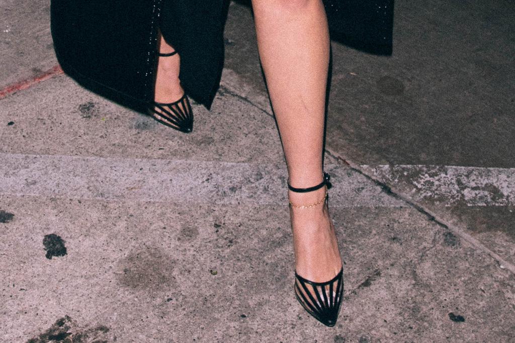 addison rae, dress, cutout dress, skirt, coat, leather, heels, see-through, los angeles, bryce hall