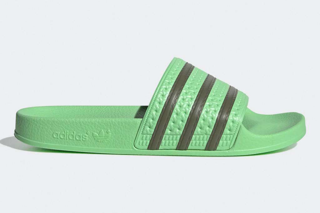 adidas, slides, green