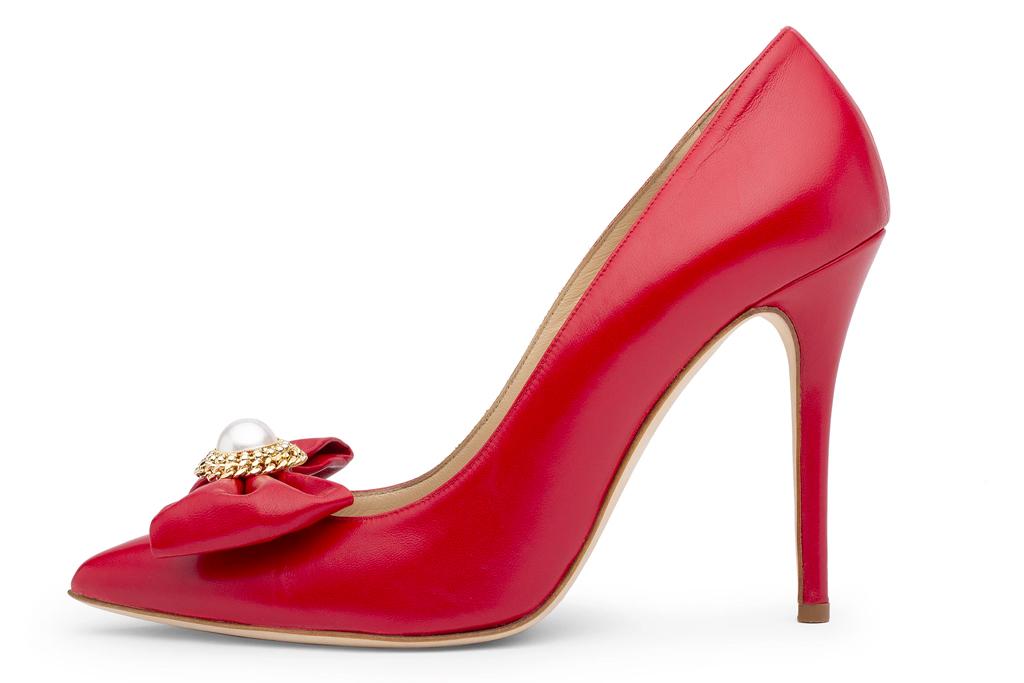 alessandra rich, heels, red pumps
