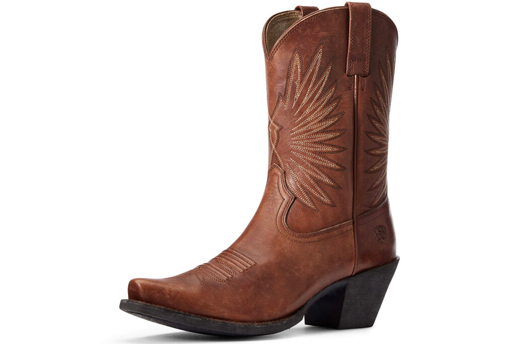 western boots, brown, ariat