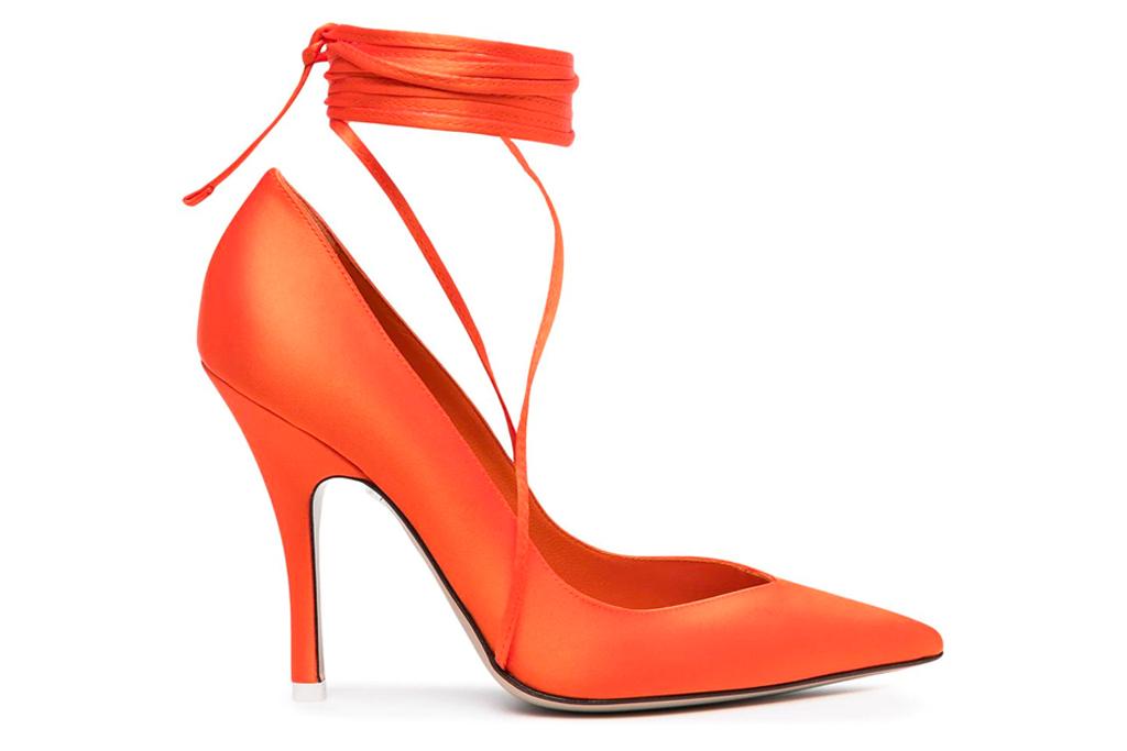 the attico, heels, orange
