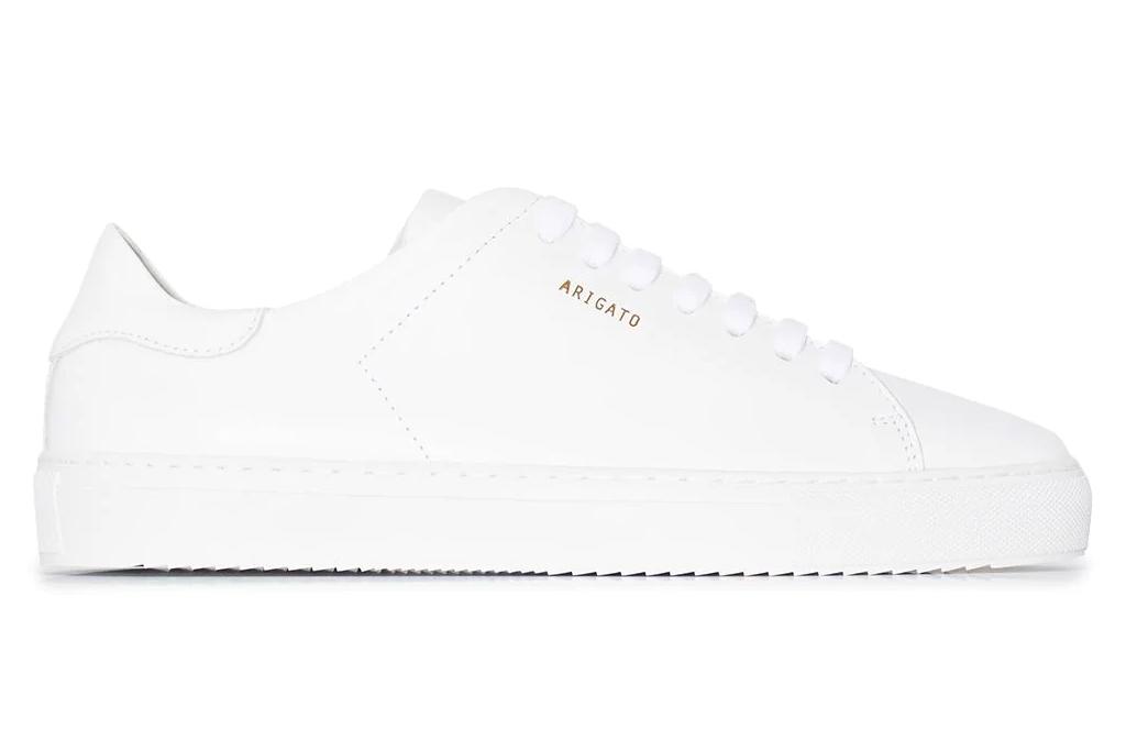white sneakers, leather, axel ariagato