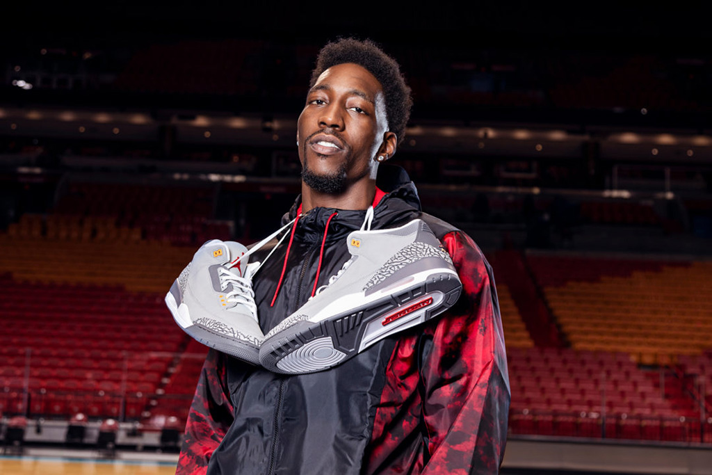 Bam Adebayo Air Jordan 3 Cool Grey