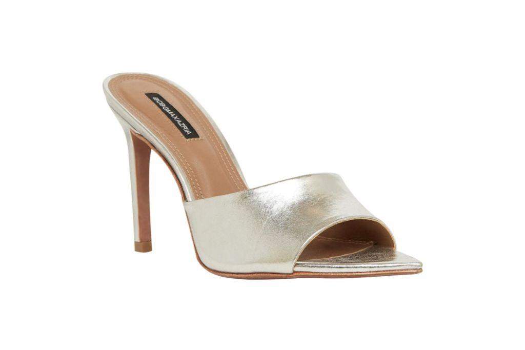 bcbgmaxazria, dana leather slide sandal, silver heel