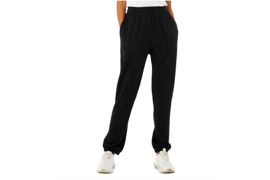 bella + canvas terry sweatpants, black sweatpants, nordstrom