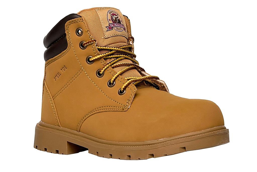 work boots, tan, brahma