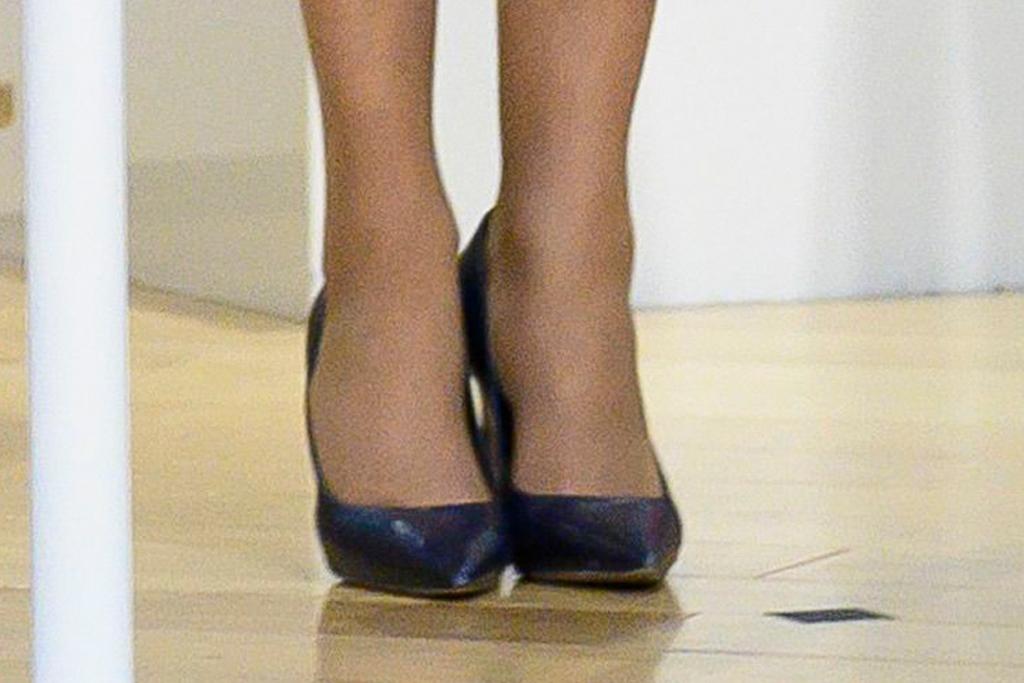 brigitte macron, france, paris, dress, blue coat, heels, pumps, louis vuitton, nasa, space, emmanuel macron