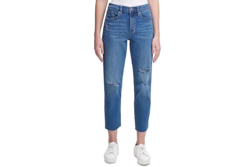 calvin klein, jeans, high-rise, straight-leg, macys