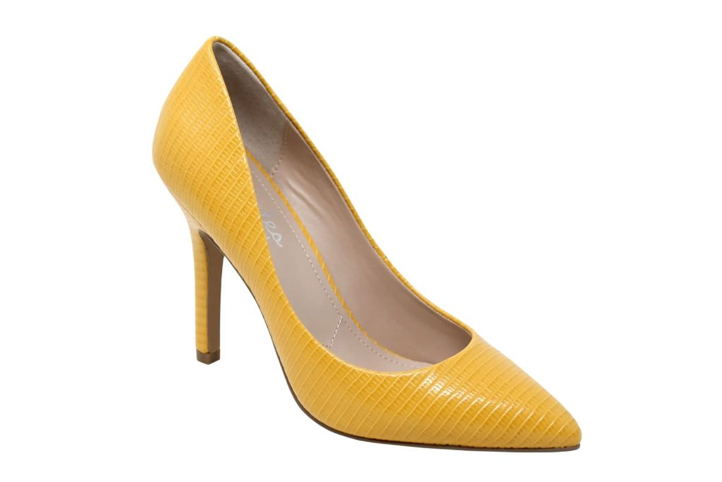charles by charles david, max pointed toe pump, yellow heels