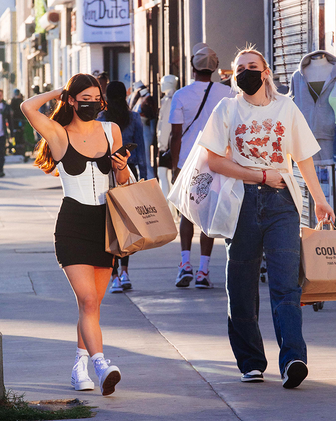 Charli D'Amelio & Madi Monroe shopping in Los Angeles