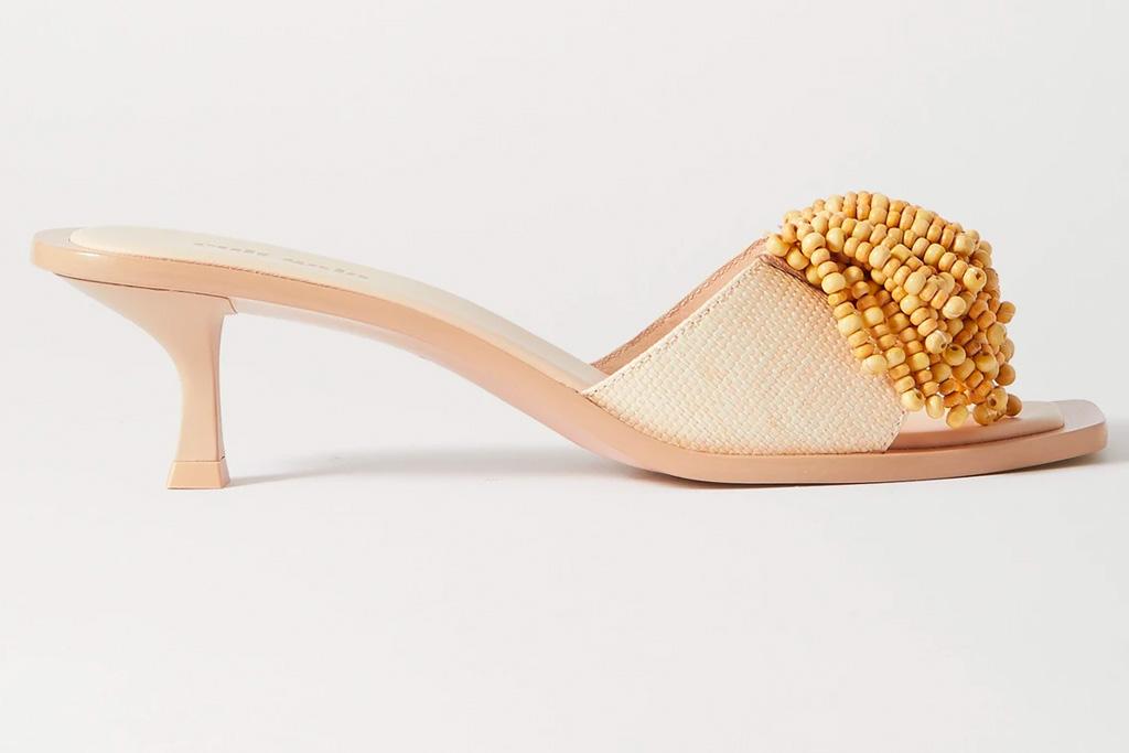 nude sandals, tan, square toe, cult gaia
