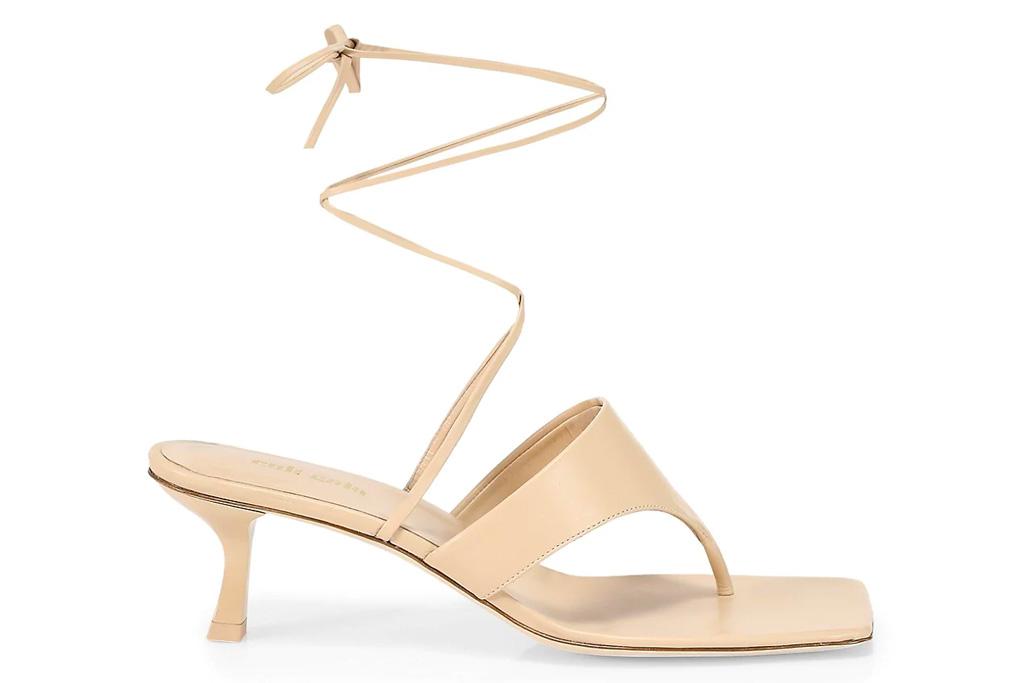 white sandals, thong, ankle wrap, cult gaia