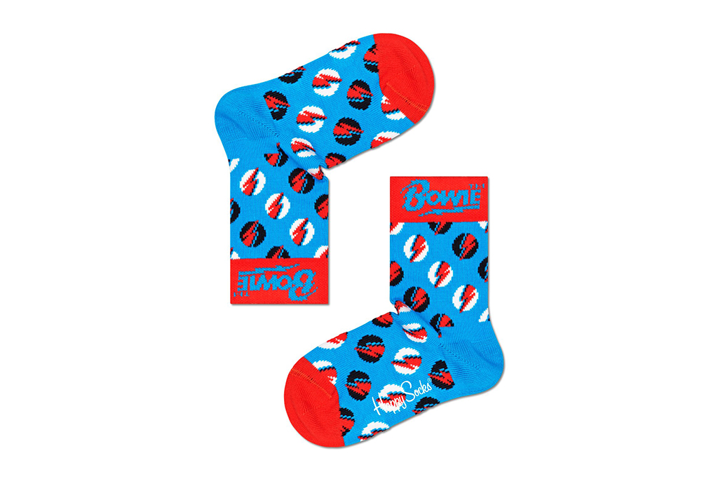 happy socks x bowie, david bowie socks, happy socks