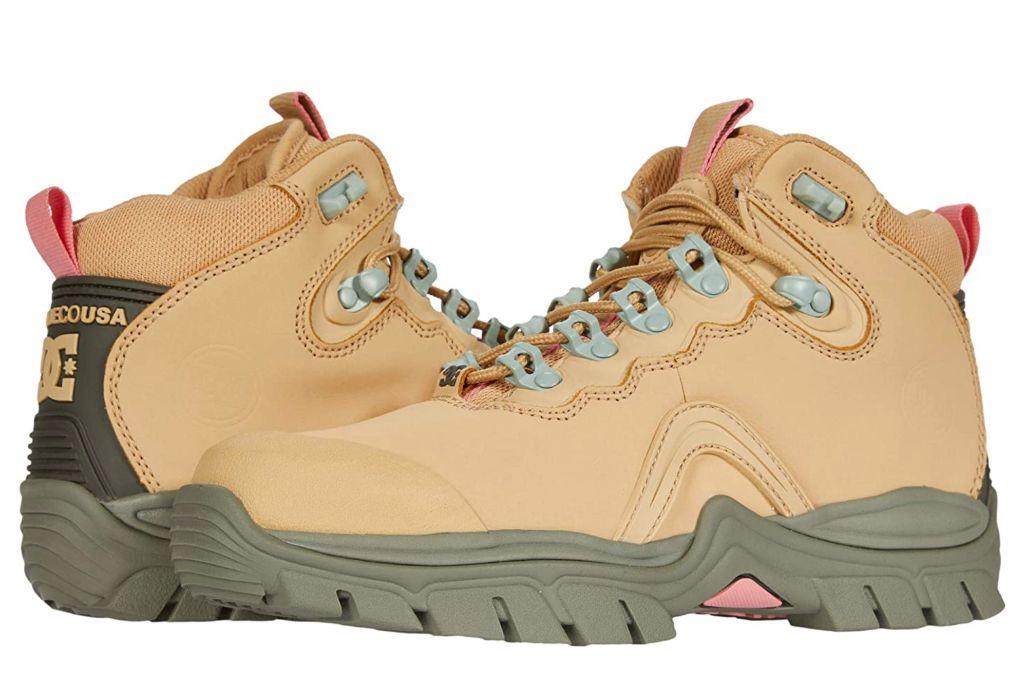 dc navigator boot, tan hiking boot, zappos