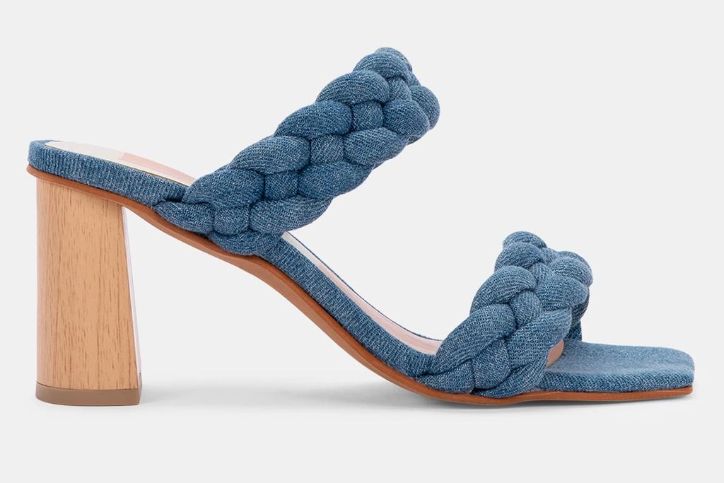 jean sandals, denim, dolce vita