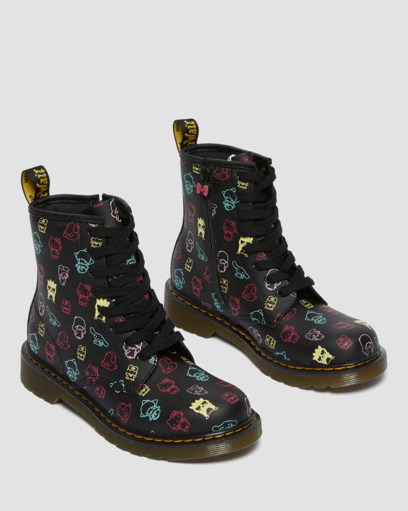 dr. martens, doc martens, hello kitty, boots, brogues