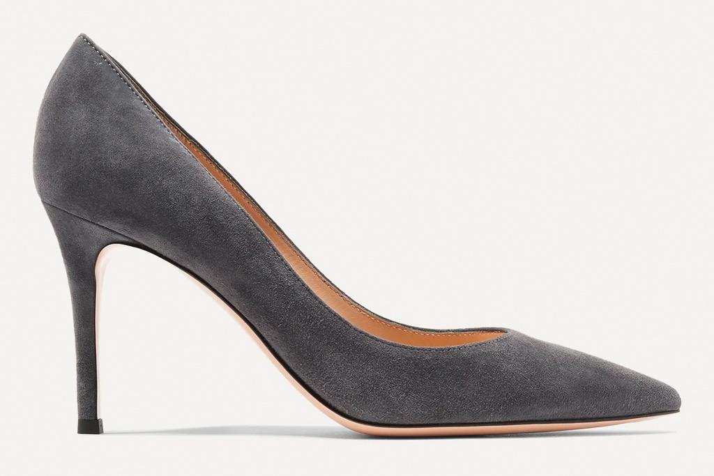 suede heels, pumps, gianvito rossi