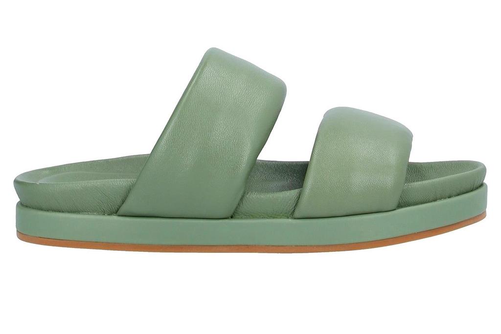 green sandals, habille