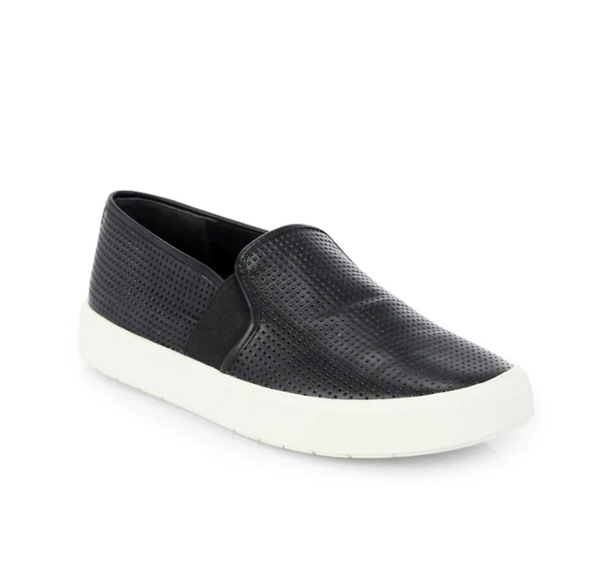Vince Blair Perforated Leather Slip-On Sneaker, shoes you can wear without socks