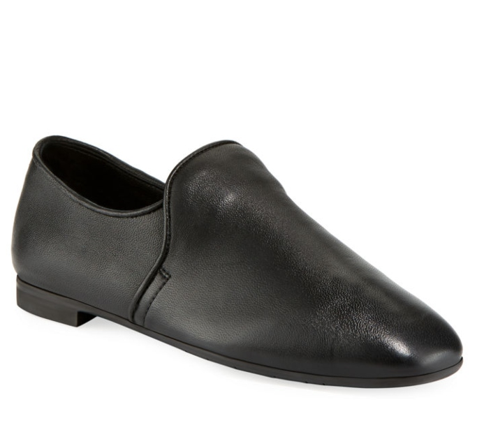 Aquatalia Revy Flat Leather Loafers, shoes you can wear without socks