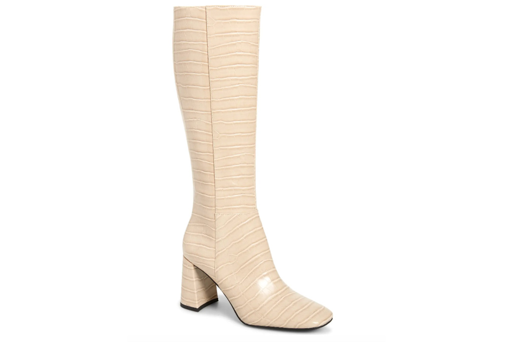 white boots, heel, jeffrey campbell