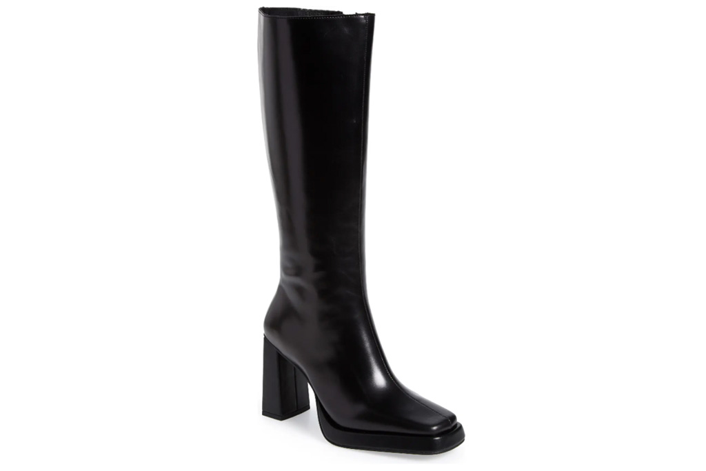 boots, black, knee high, jeffrey campbell