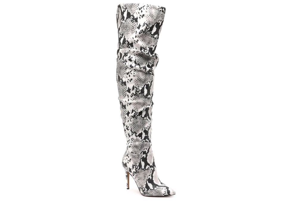 Jessica Simpson, Snakeskin Thigh-High Boots, DSW