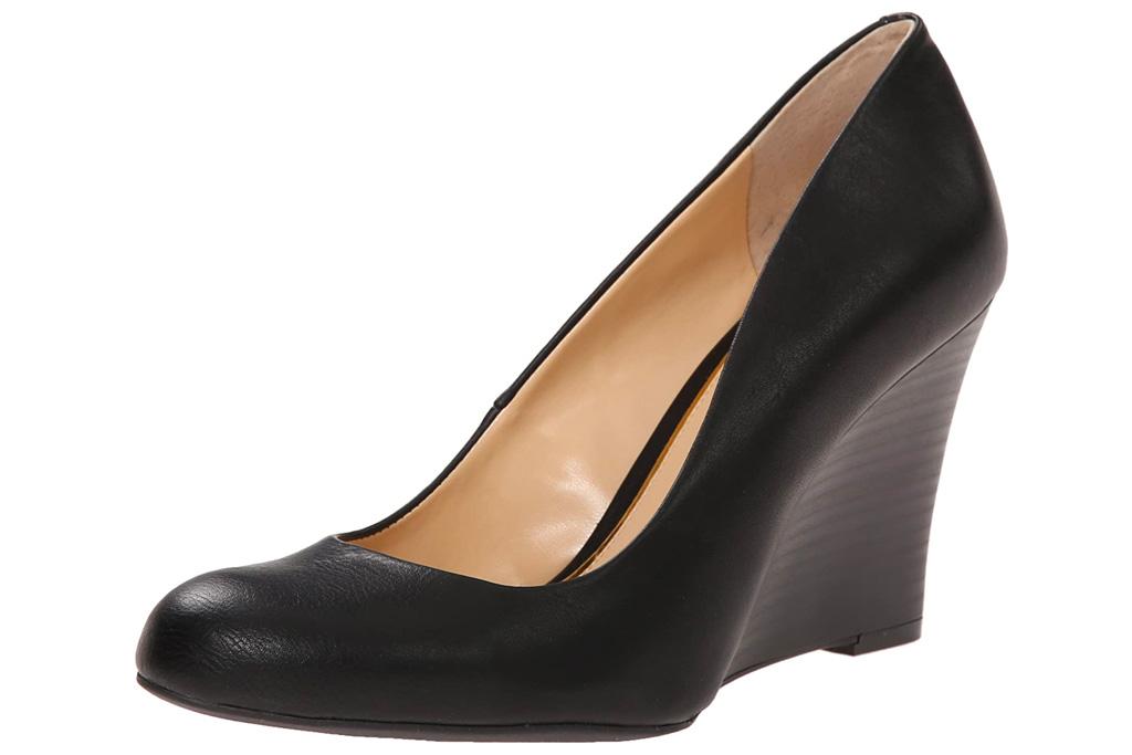black wedges, round toe, jessica simpson