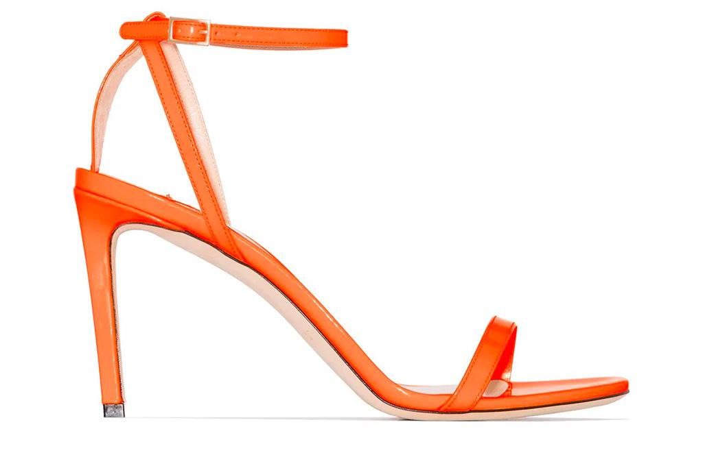orange heels, sandals, jimmy choo