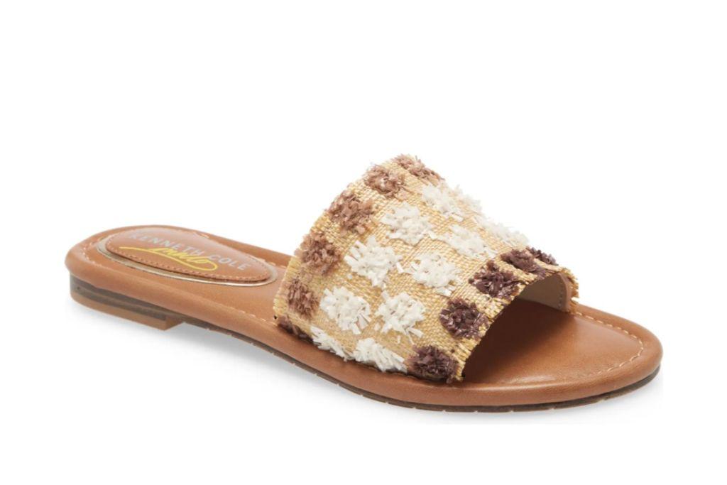 kenneth cole new york, mello raffia slide sandal