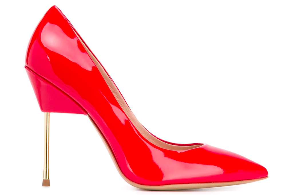 red pumps, kurt geiger
