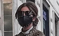 lady gaga, dress, leopard, heels, leather