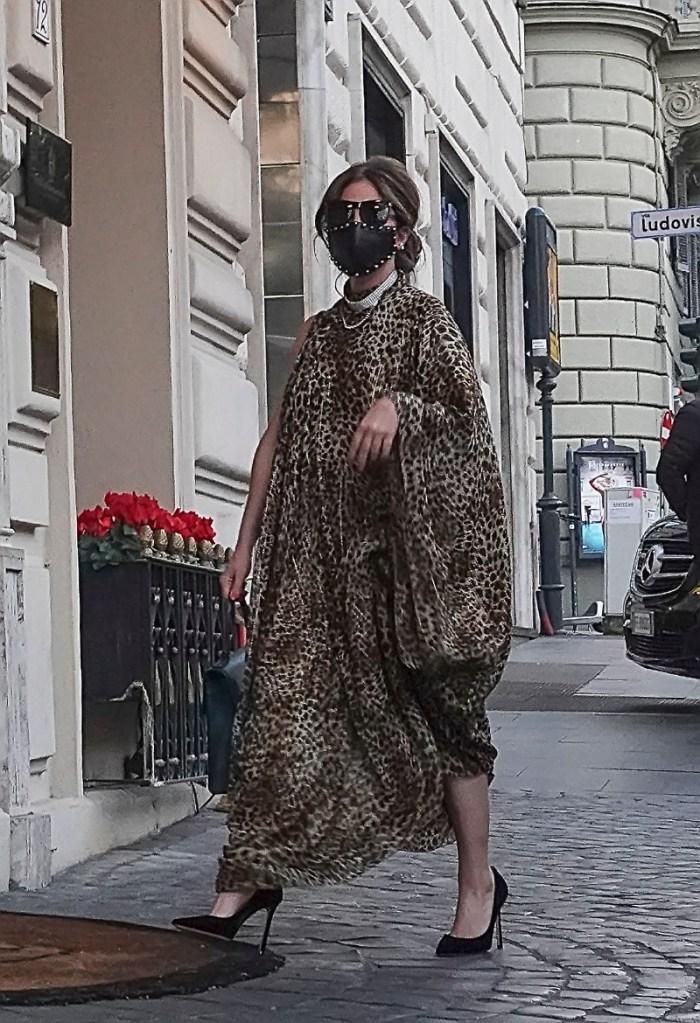 lady gaga, dress, leopard, heels, leather mask, gucci, italy, patrizia reggiani, movie