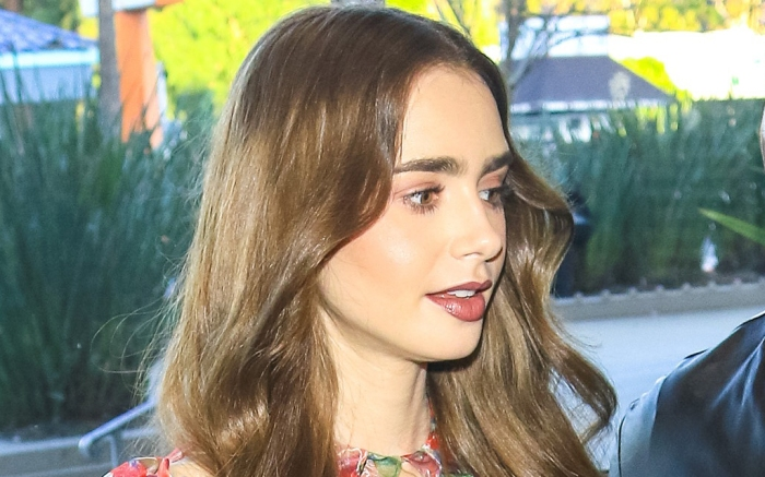 lily-collins-dress-tights-boots