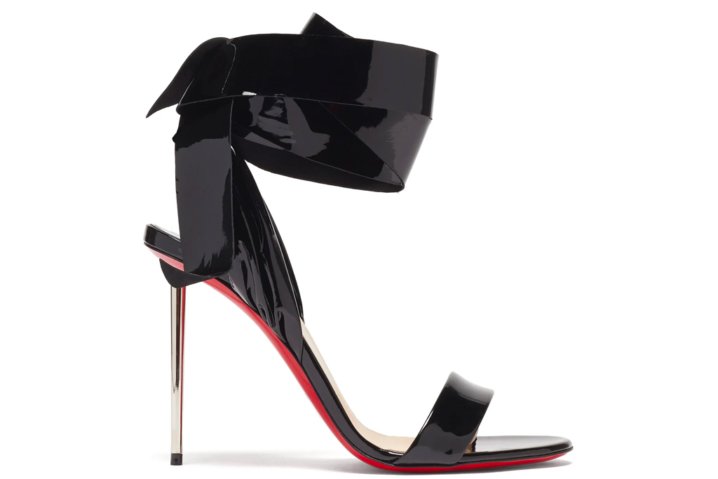 christian louboutin, sandals, heels, wrap, epic rose