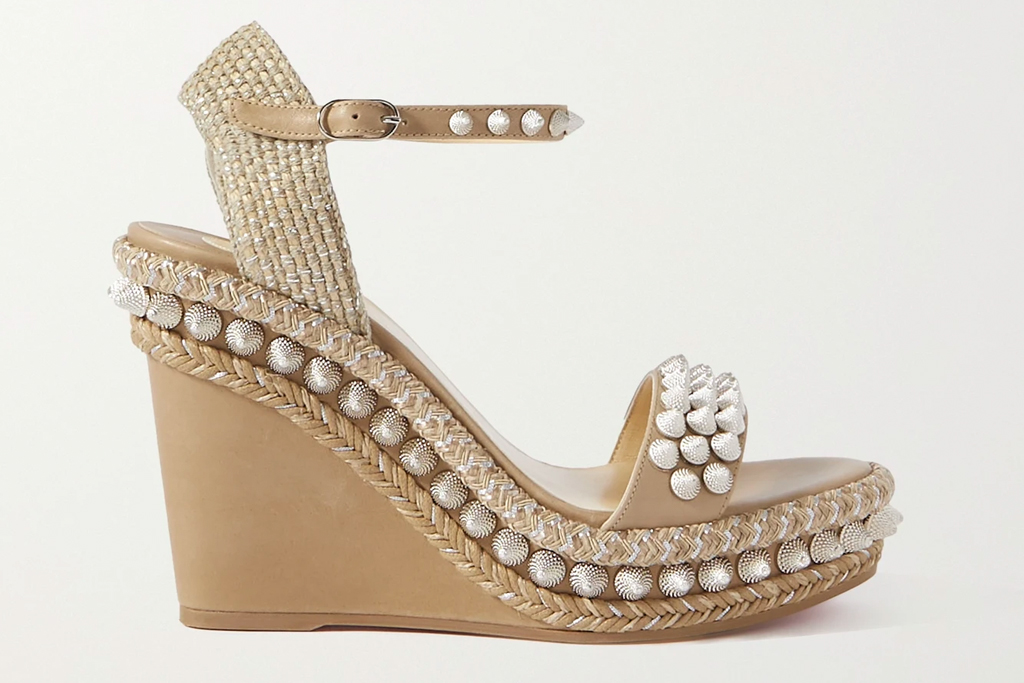 christian louboutin, wedges, sandals, spiked, lata